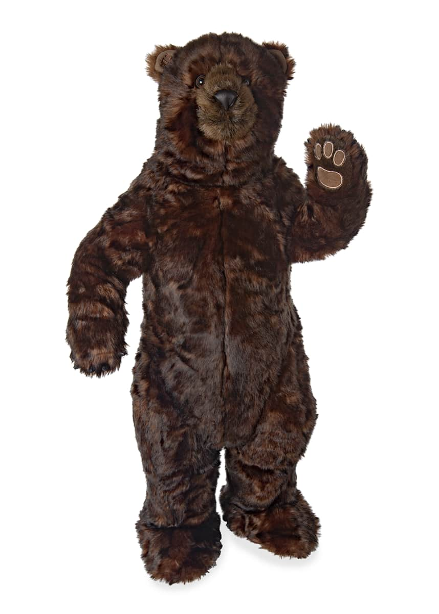 "Ditz Designs By The Hen House Standing 36"" Cinnamon Bear"