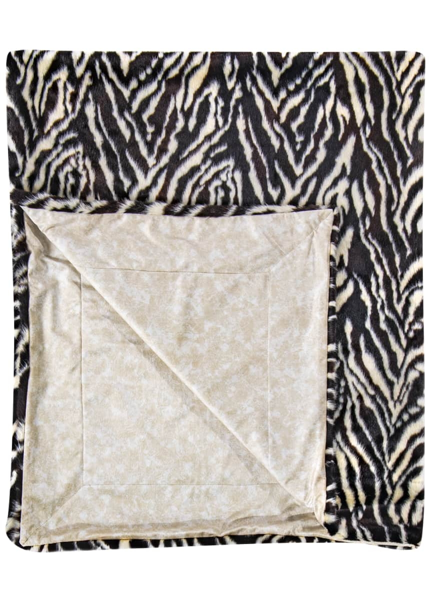 Ditz Designs By The Hen House Zebra Throw
