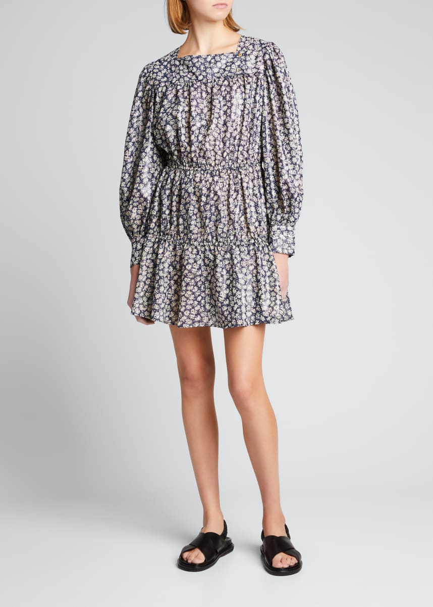 Ciao Lucia Alessandra Printed Long-Sleeve Dress