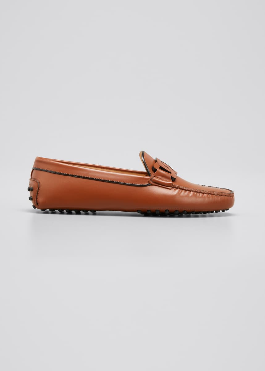 Tod's Smooth Leather Slip-On Loafers, Brown