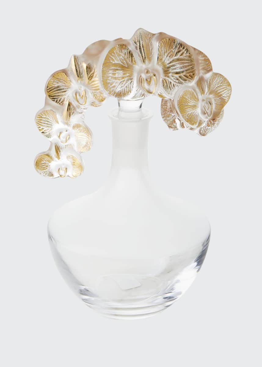 Lalique Gold Accent Orchidee Decanter