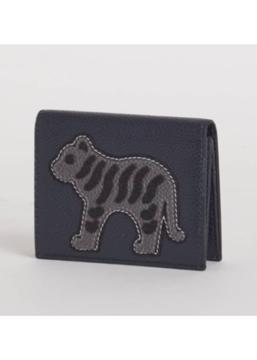 Thom Browne Men's Tiger Icon Leather Double Card Holder