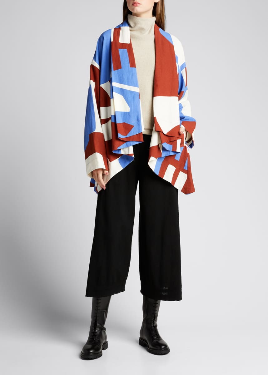 Issey Miyake Abstract Draped Cardigan Jacket