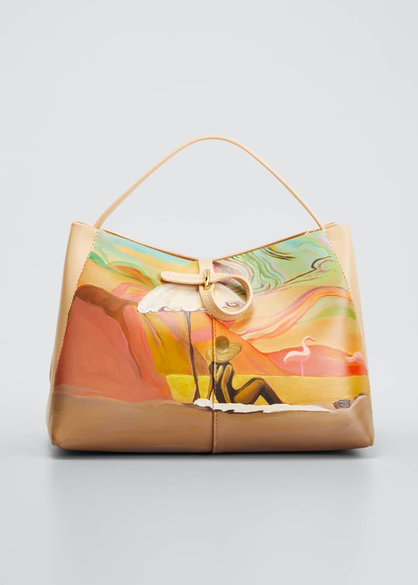 Wandler x Megan Gabrielle Ava Mini Painted Leather Tote Bag