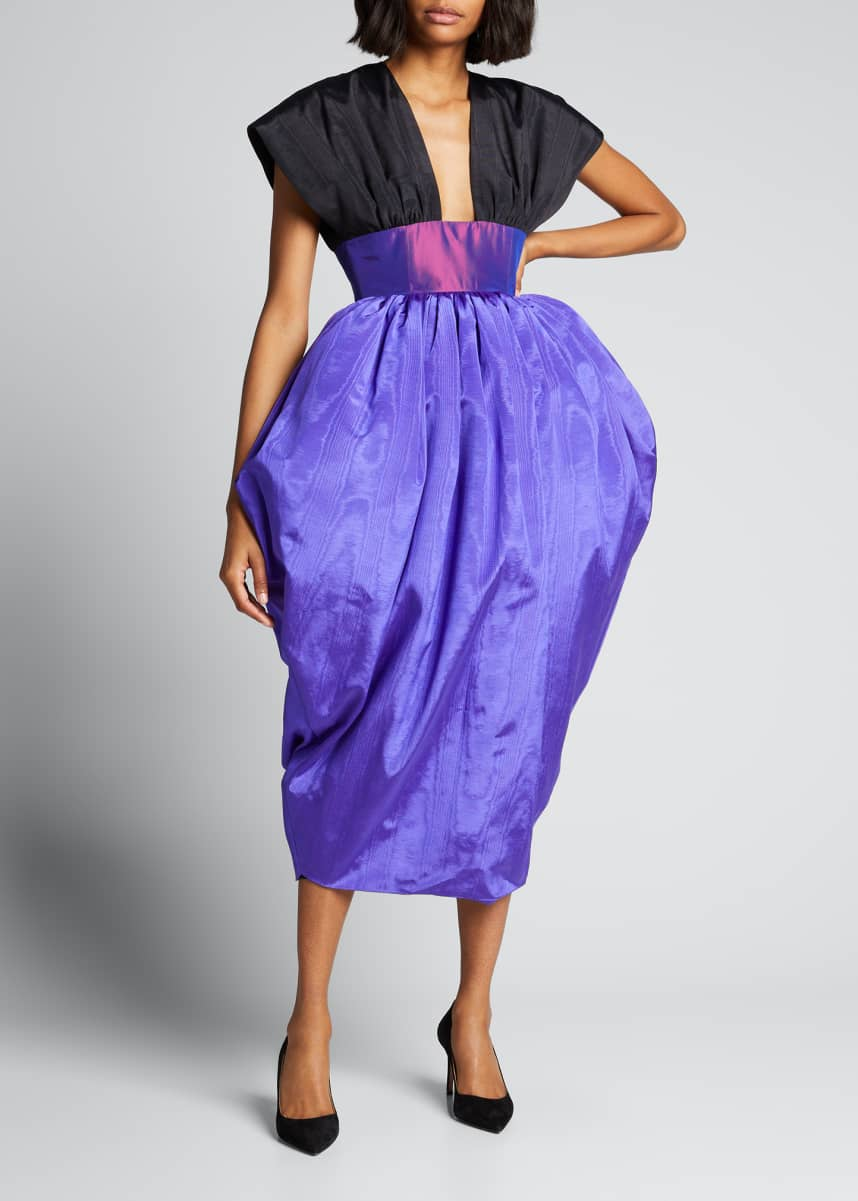 CHRISTOPHER JOHN ROGERS Bicolor Taffeta Tulip Dress