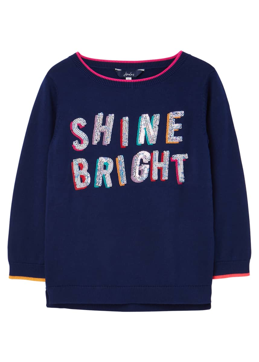 Joules Girl's Miranda Shine Bright Graphic T-Shirt, Size 2-12