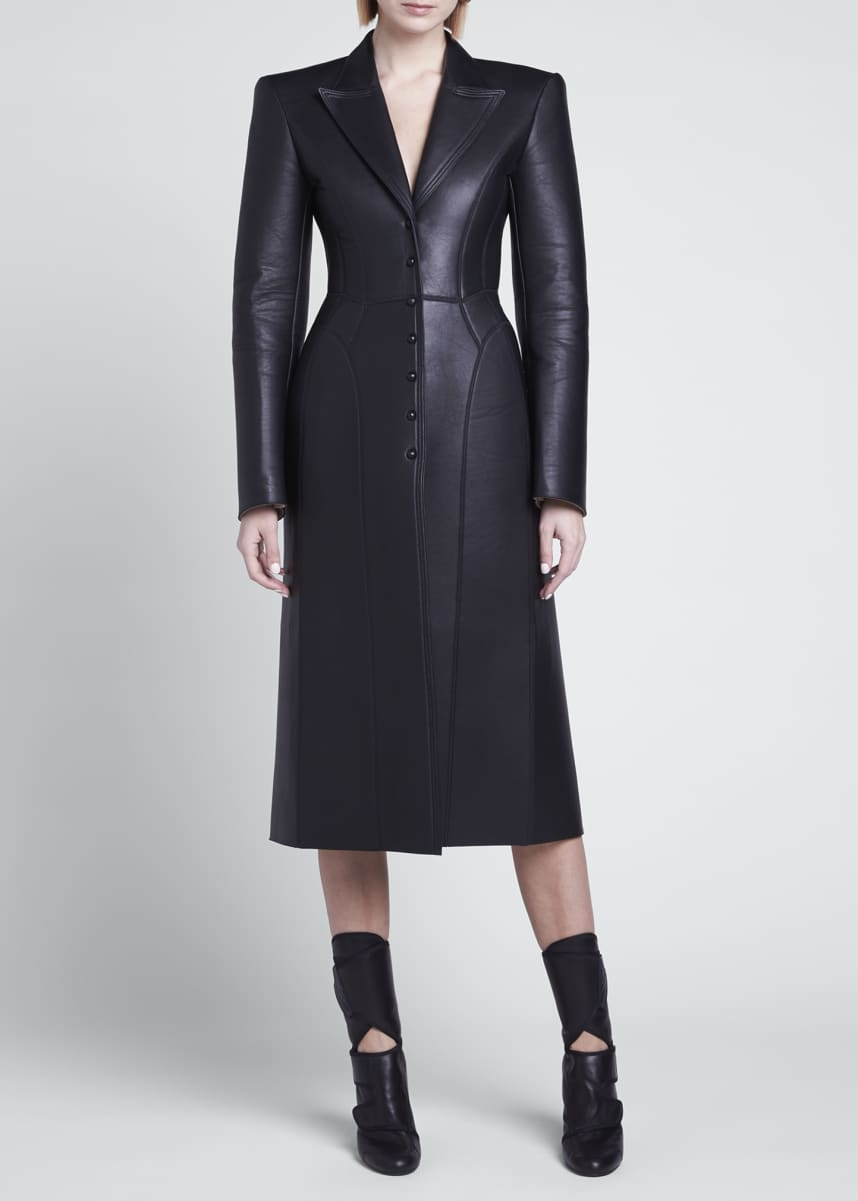 Fendi Bonded Leather Coat