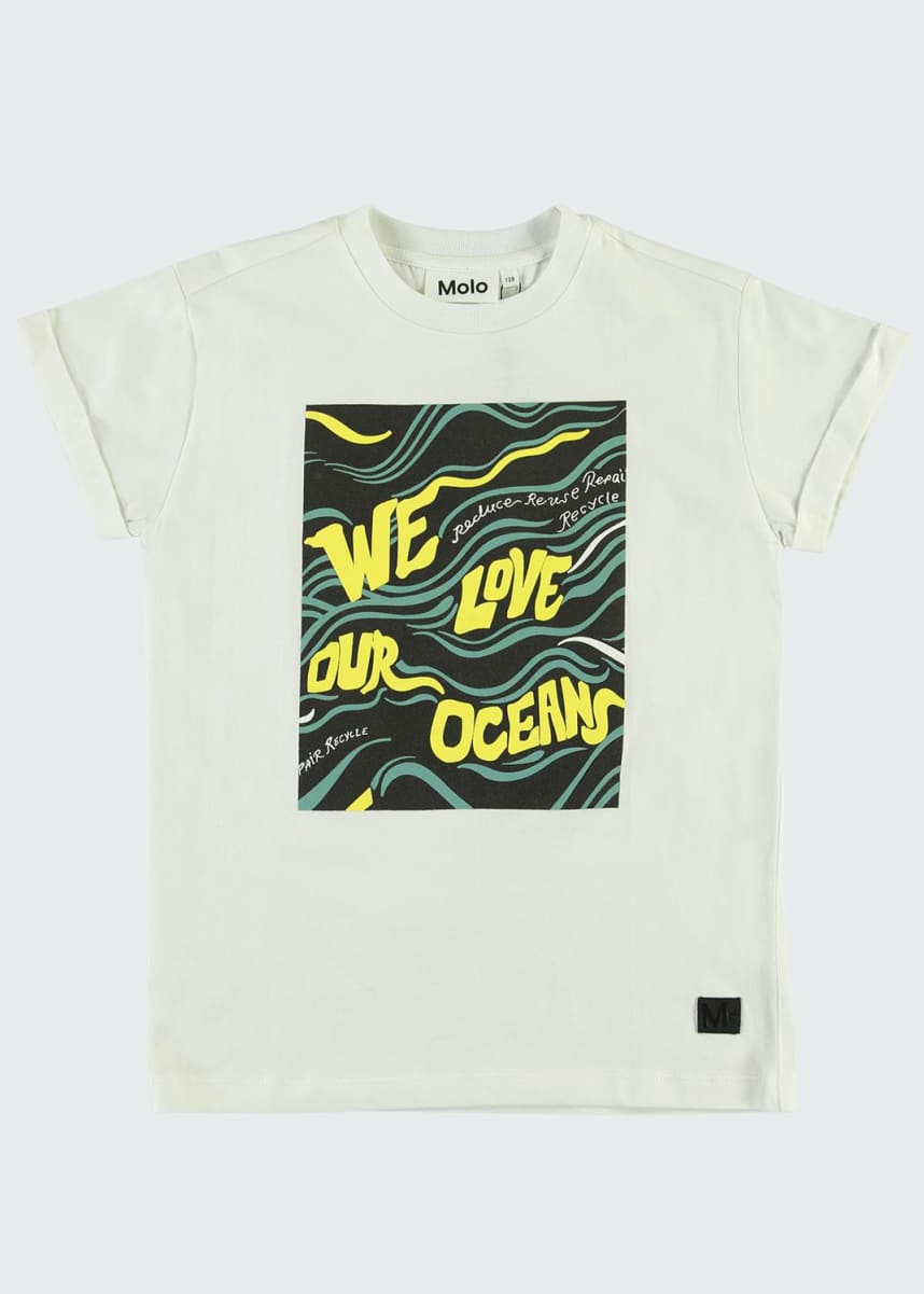 Molo Boy's Randon We Love Our Oceans Graphic T-Shirt, Size 4-12