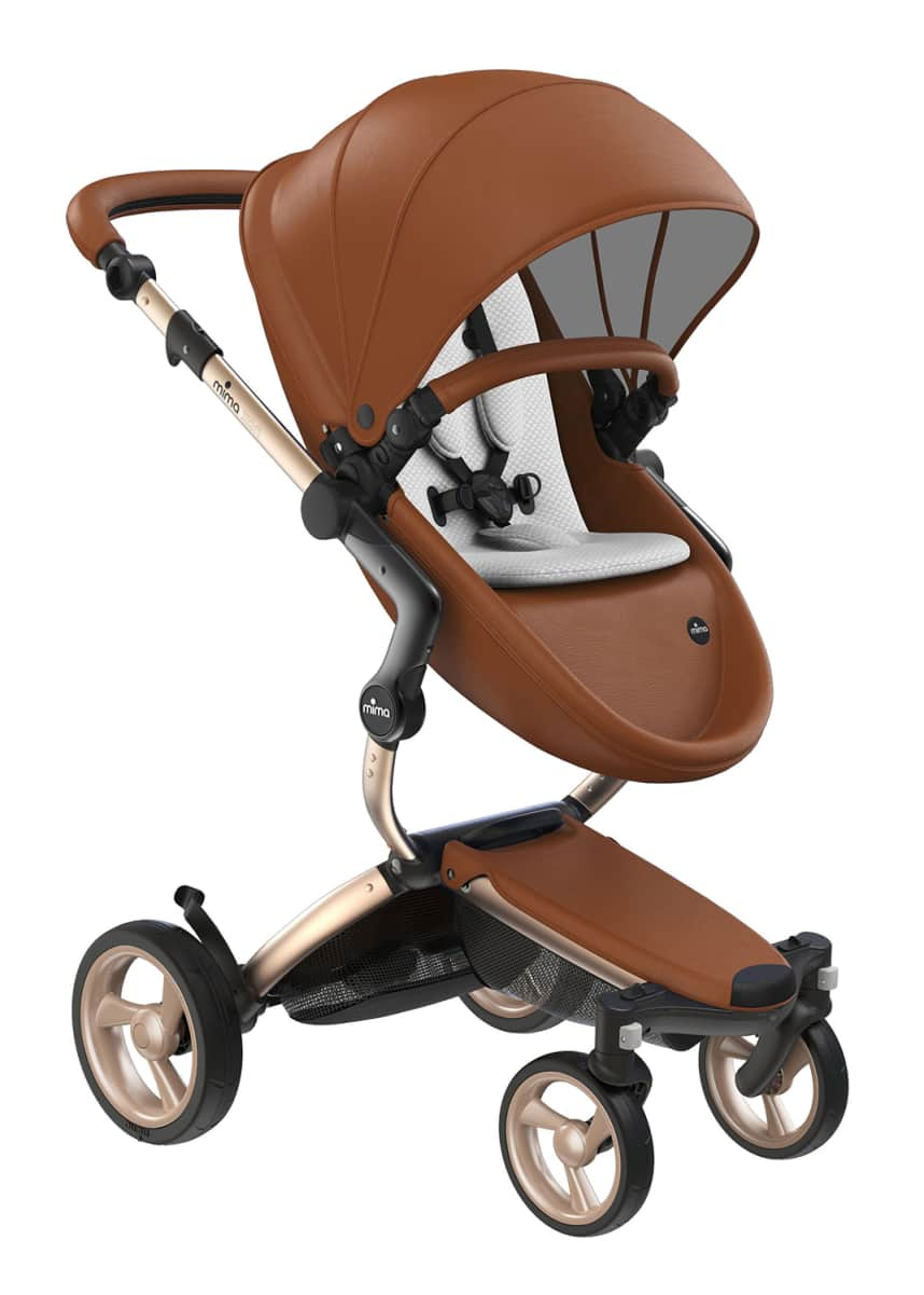 Mima Xari Stroller w/ Starter Pack, Gold Chassis