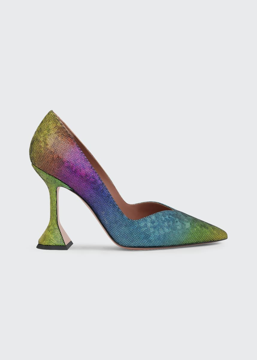 Amina Muaddi Giorgia Multicolored Napa Pumps