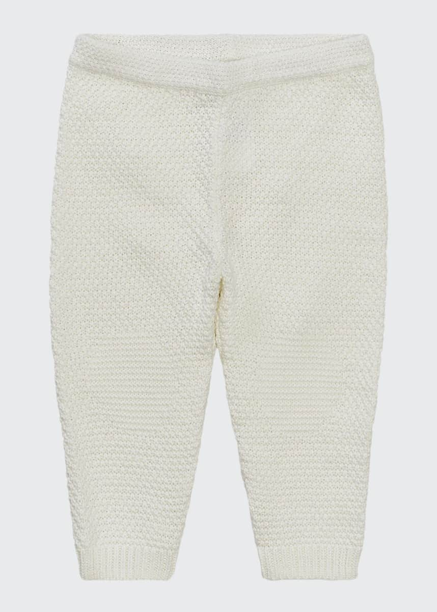 Ralph Lauren Childrenswear Kid's Textured Knit Cotton Jogger Pants, Size 3-24M