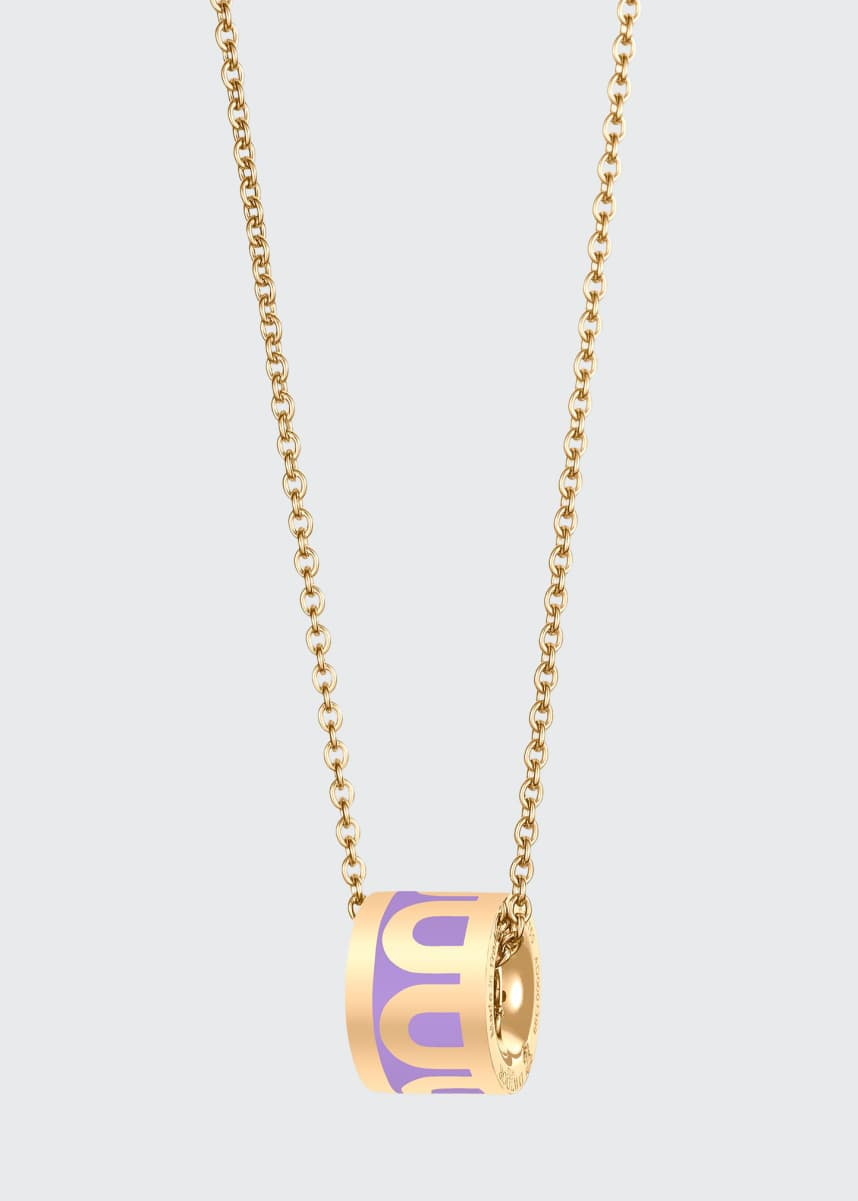 DAVIDOR 18k Yellow Gold Ceramic L'Arc Bead Necklace, Lavande