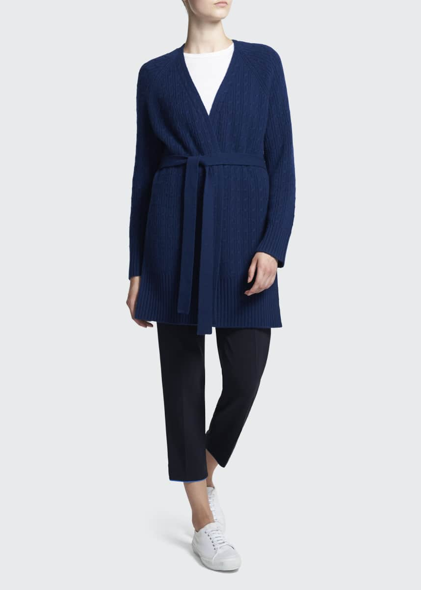 Theory Malinka Cable-Knit Cashmere Cardigan