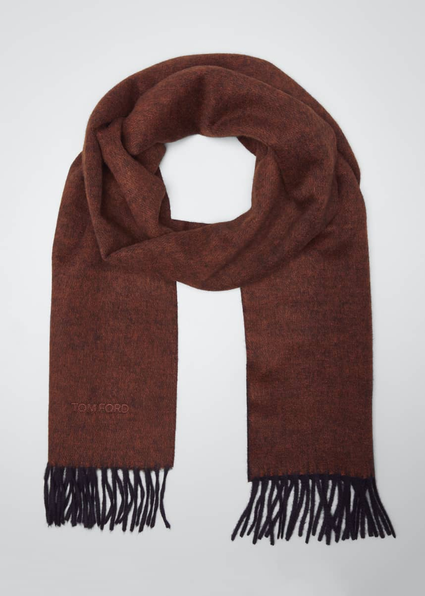 TOM FORD Men's Solid Cashmere Scarf
