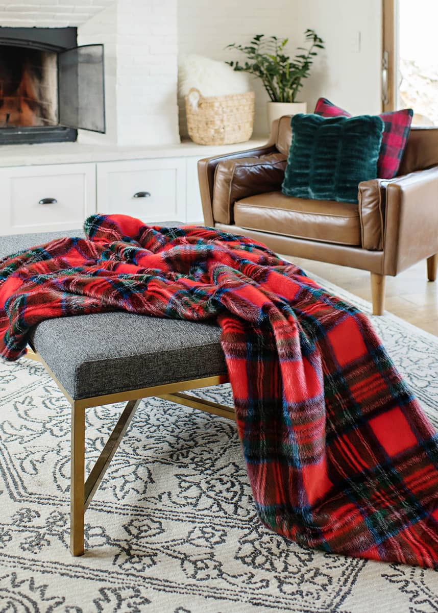 Fabulous Furs Holiday Collection Throw