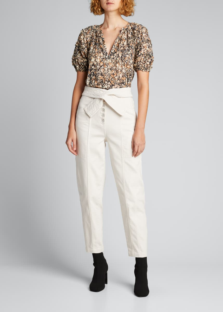 Ulla Johnson Otto Belted High-Rise Jeans