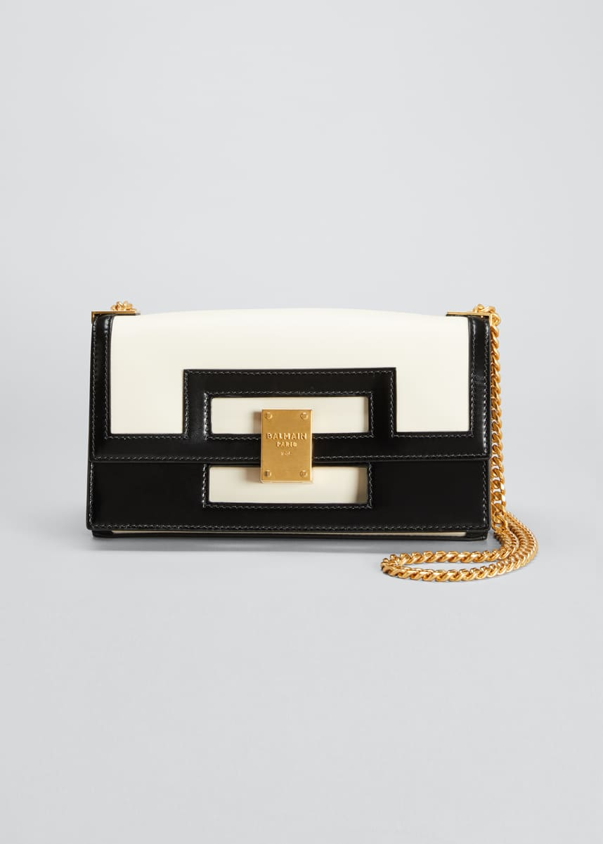 Balmain 1945 Medium Calfskin Chain Shoulder Bag