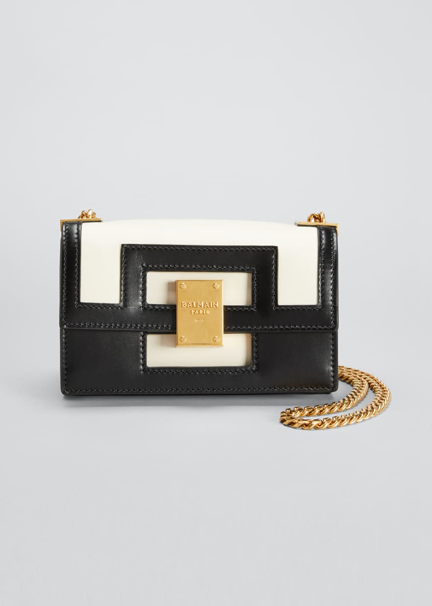 Balmain 1945 Small Calfskin Chain Shoulder Bag