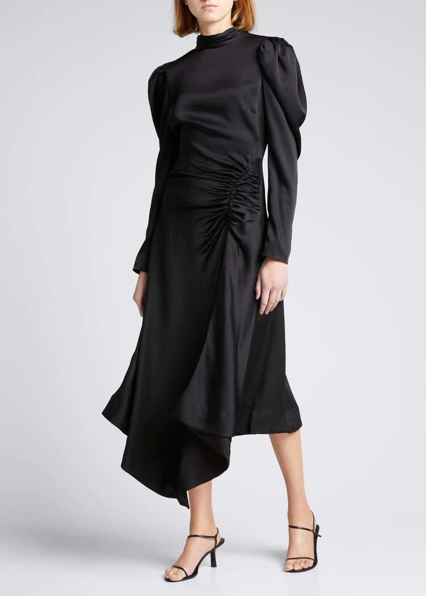 Jonathan Simkhai Reese Crepe Long-Sleeve Cocktail Dress