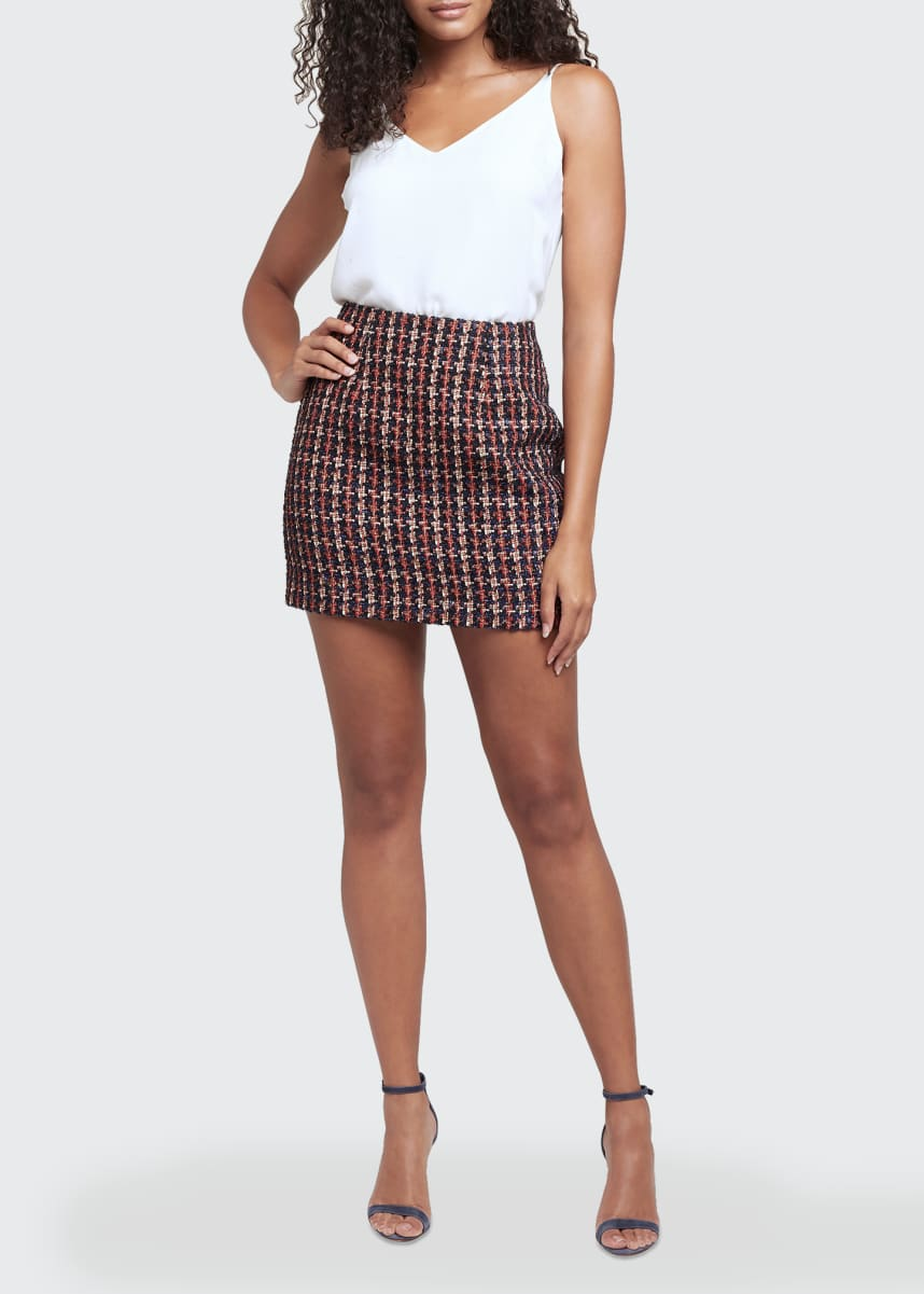 L'Agence Livia Tweed Mini Skirt