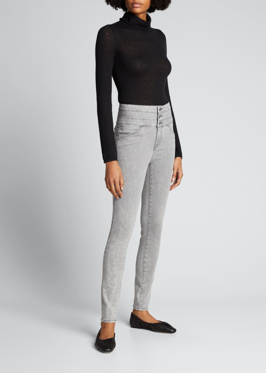 J Brand Annalie High-Rise Skinny Jeans with Triple Waistband