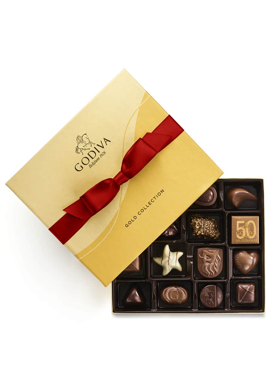 Godiva Chocolatier 19-Piece Holiday Gold Ballotin Box