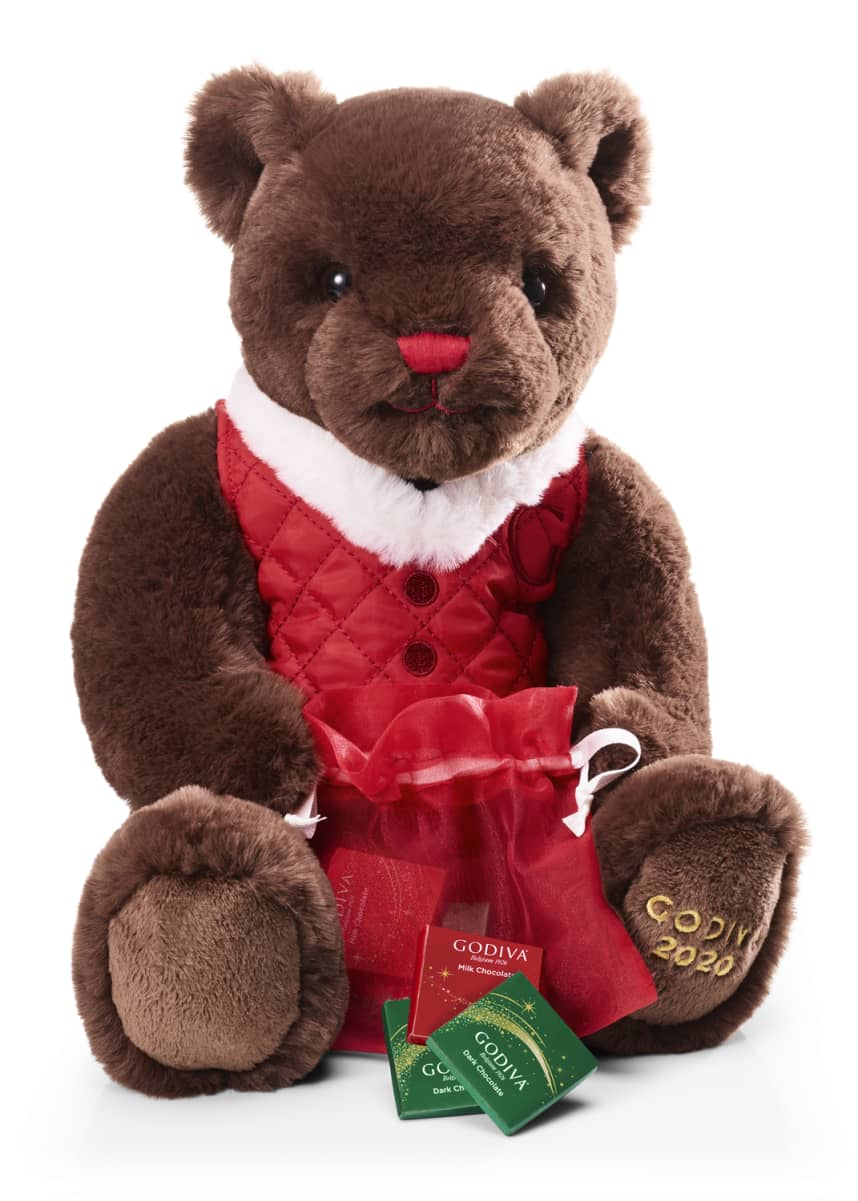 Godiva Chocolatier Holiday Plush Bear