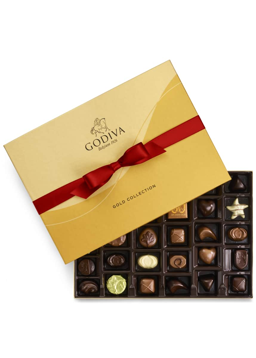 Godiva Chocolatier 36-Piece Holiday Gold Ballotin Box