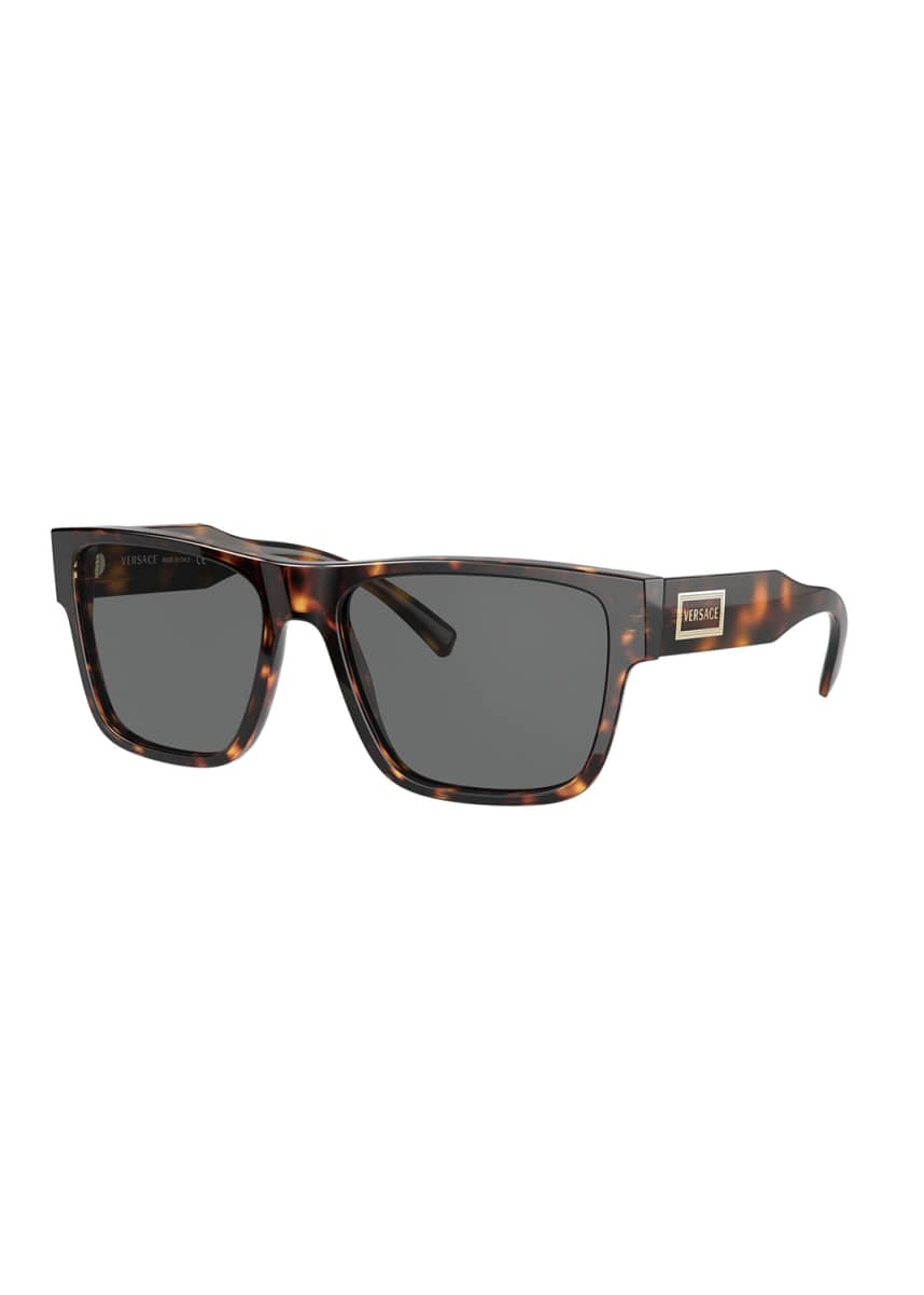 Versace Men's Square Acetate Sunglasses