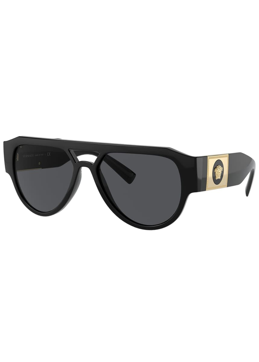 Versace Men's Propionate Aviator Sunglasses