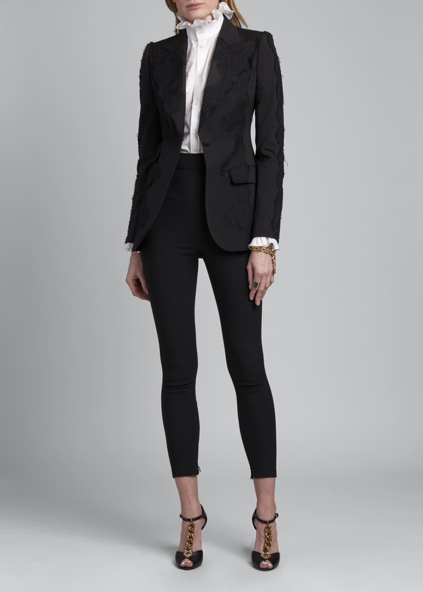 Dolce & Gabbana Single-Breasted Lace Blazer
