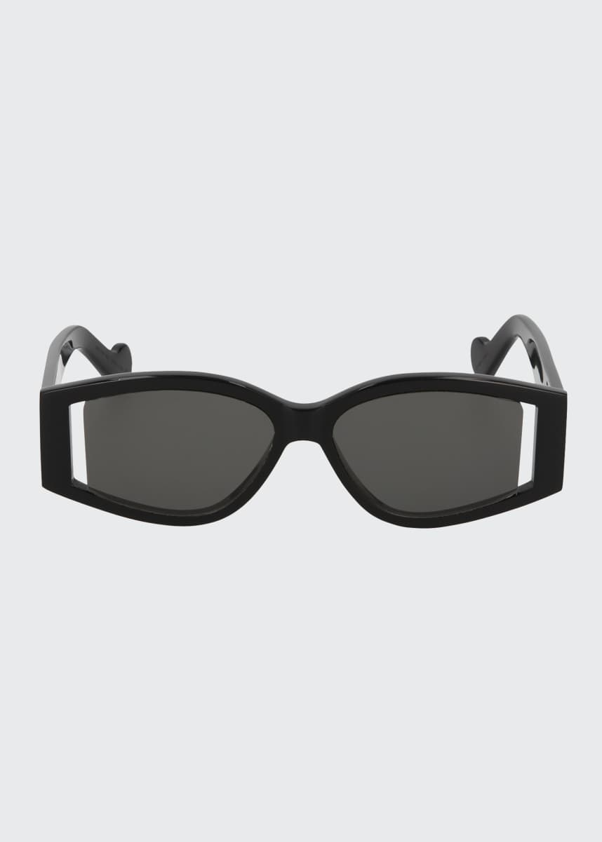 Fenty Coded Rectangular Acetate Sunglasses