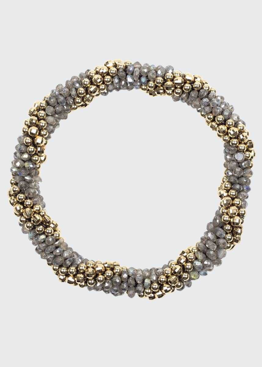Meredith Frederick Audrey 14k Gold and Labradorite Bead Bracelet