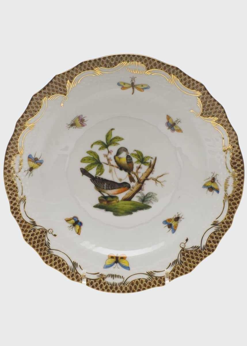 Herend Rothschild Bird Brown Motif 2 Salad Plate