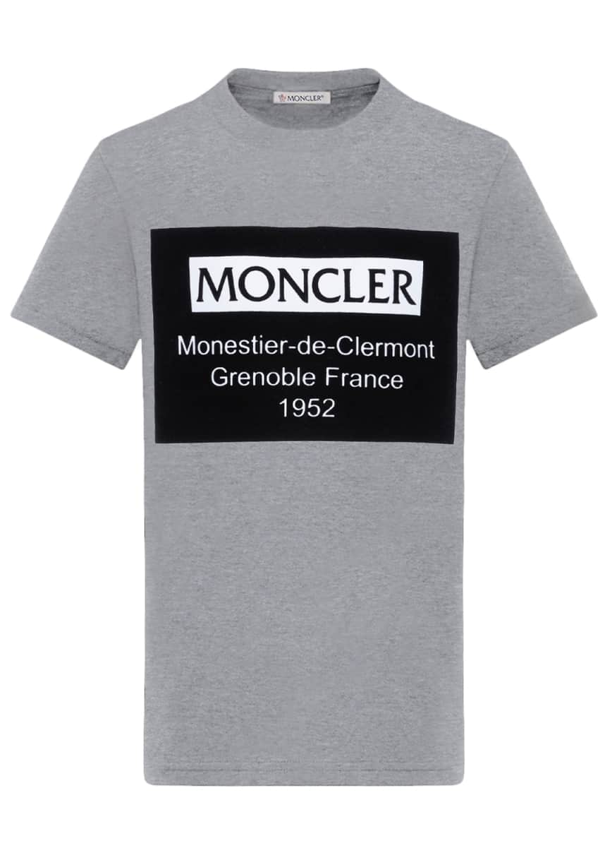Moncler Boy's Short-Sleeve Cotton Logo Graphic T-Shirt, Size 4-6 Boy's Short-Sleeve Cotton Logo Graphic T-Shirt, Size 8-14