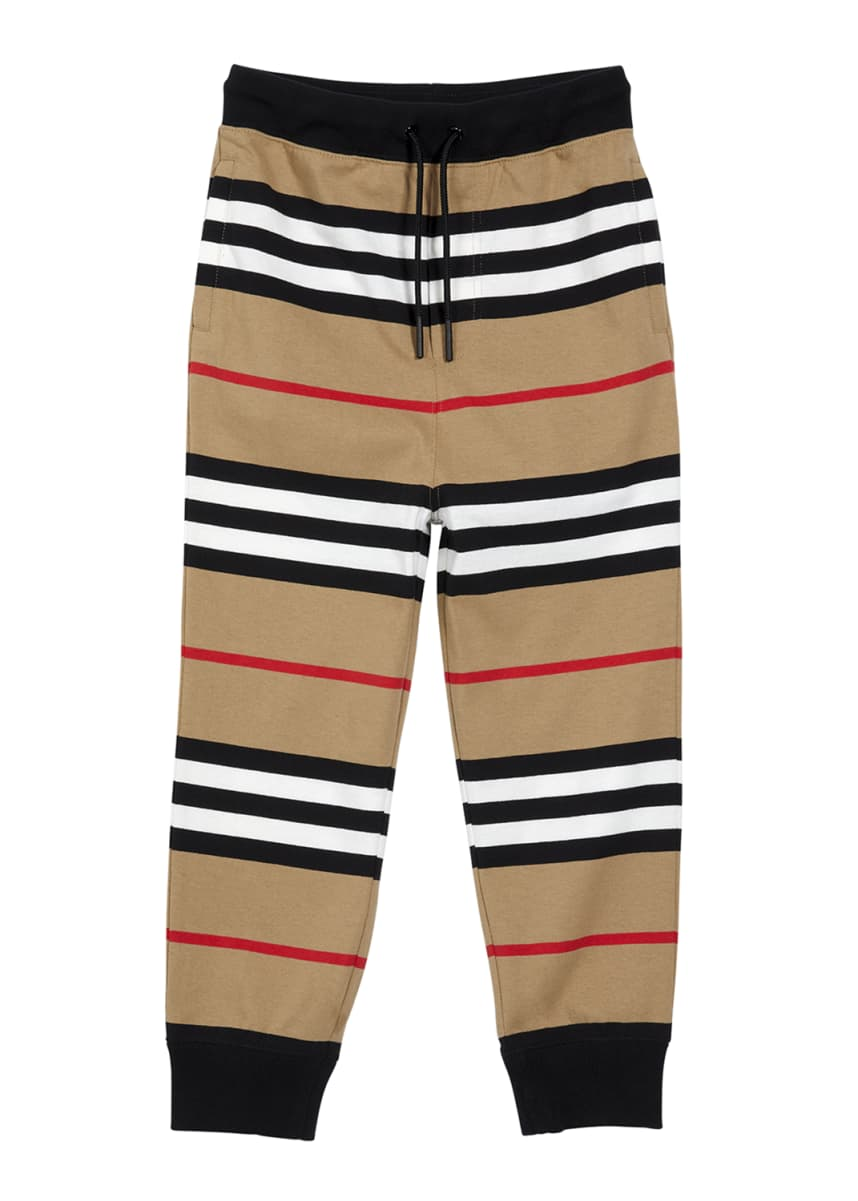 Burberry Boy's Lanford Icon Stripe Joggers, Size 6M-2