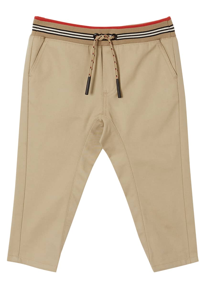 Burberry Boy's Dilan Cotton Trackpants, 6M-2