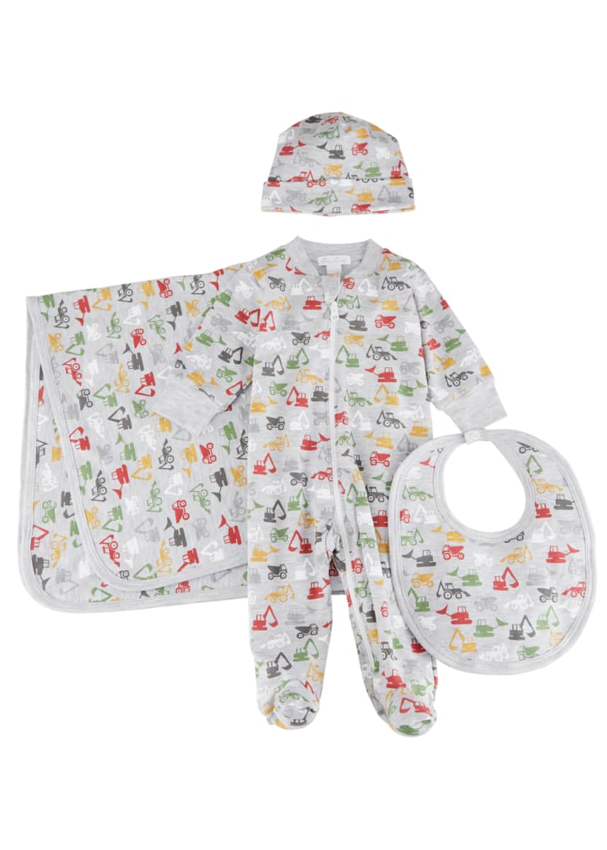 Kissy Kissy Construction Countdown Pima Cotton Baby Bib