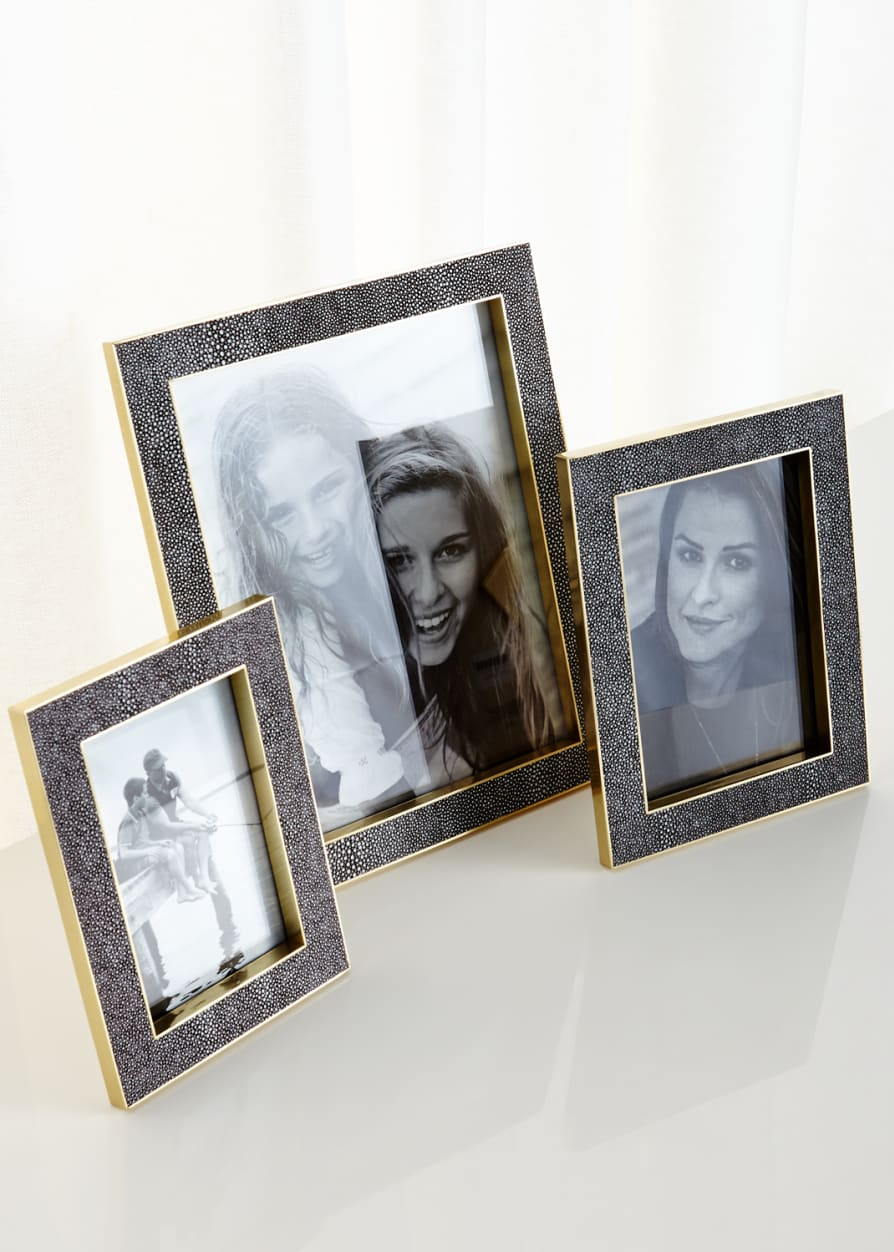Classic Chocolate Shagreen Frames