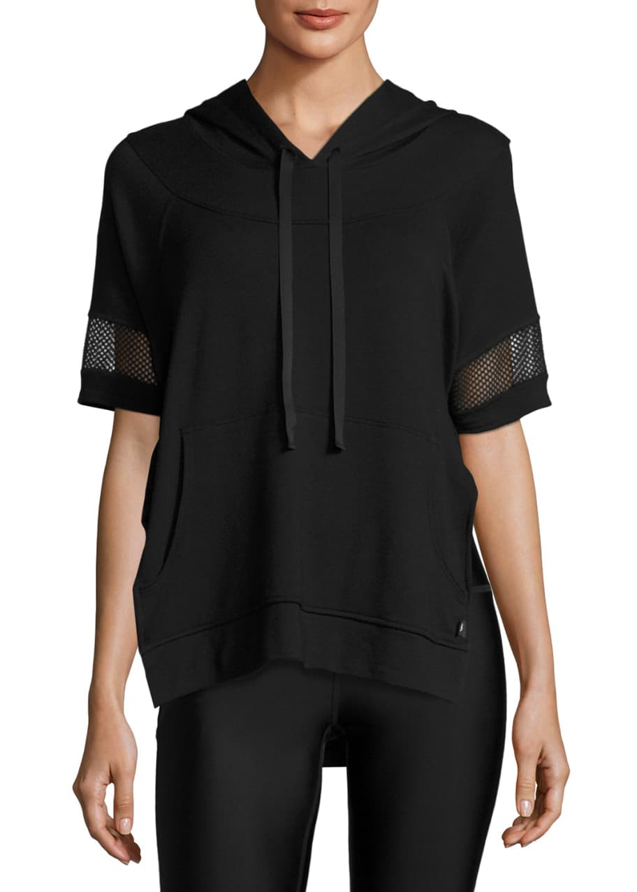 Terez Womens French Terry Hooded Poncho