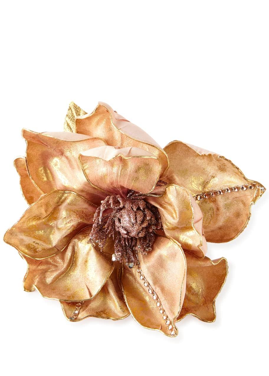 Deborah Rhodes Rose Gold Magnolia Napkin Ring Bergdorf Goodman
