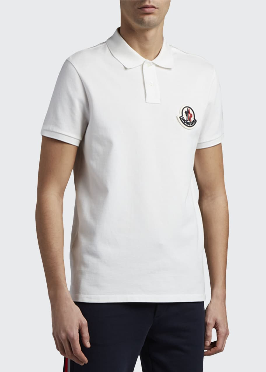 Men's Large Logo-Patch Polo Shirt