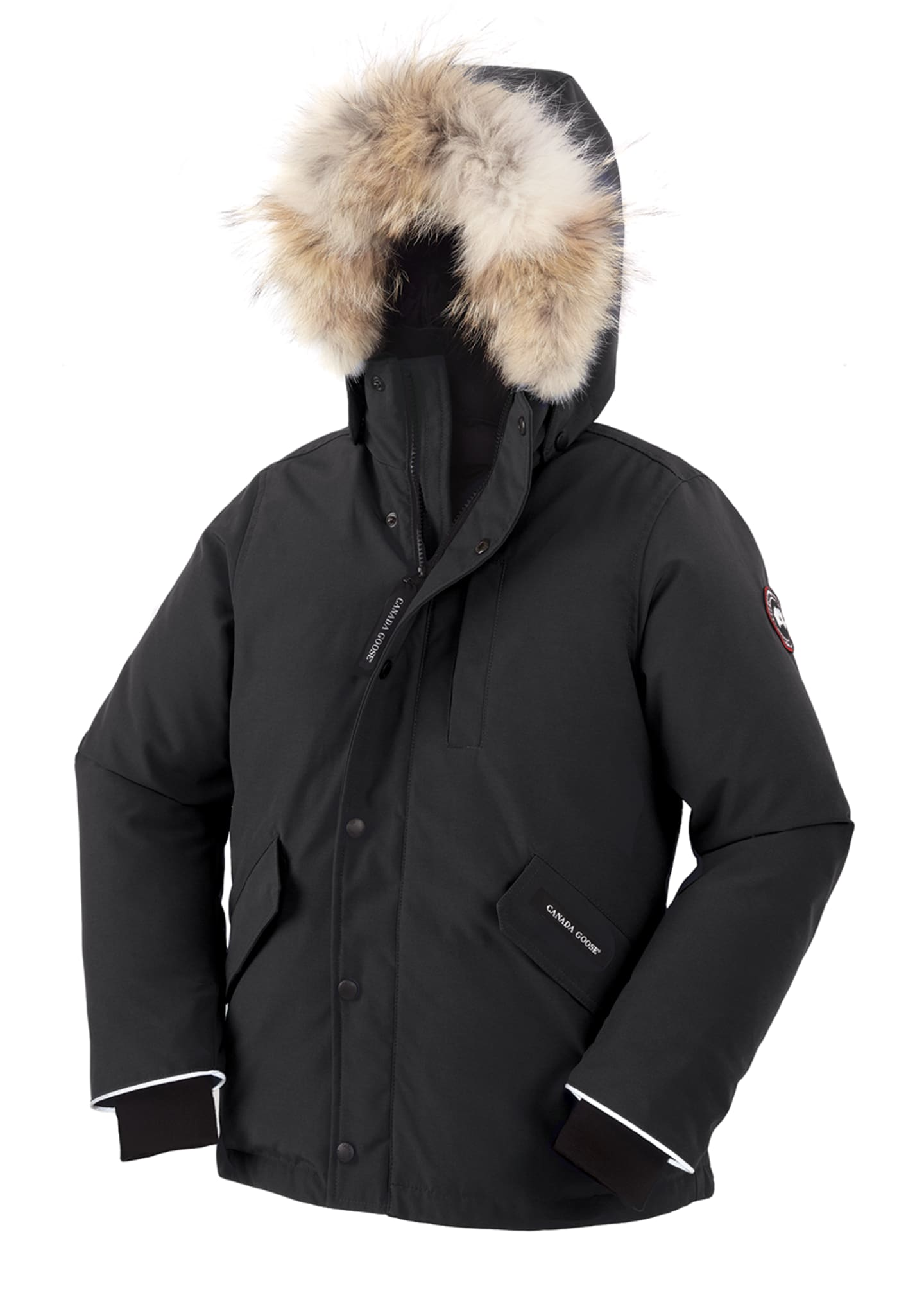 Image 1 of 2: Boys' Logan Parka with Fur Trim, Size XS-XL