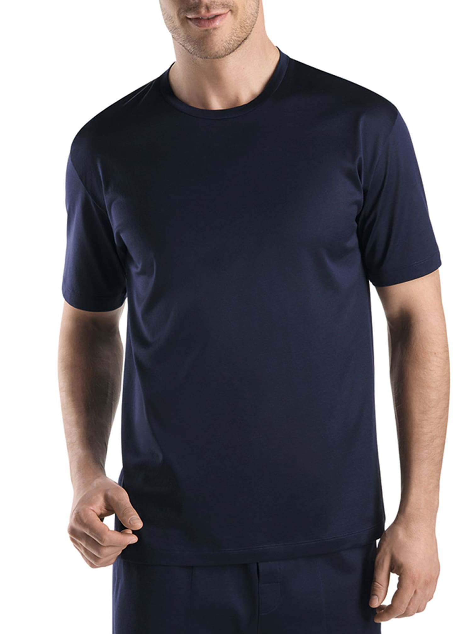 Hanro Sporty Crewneck T-Shirt, Midnight Navy
