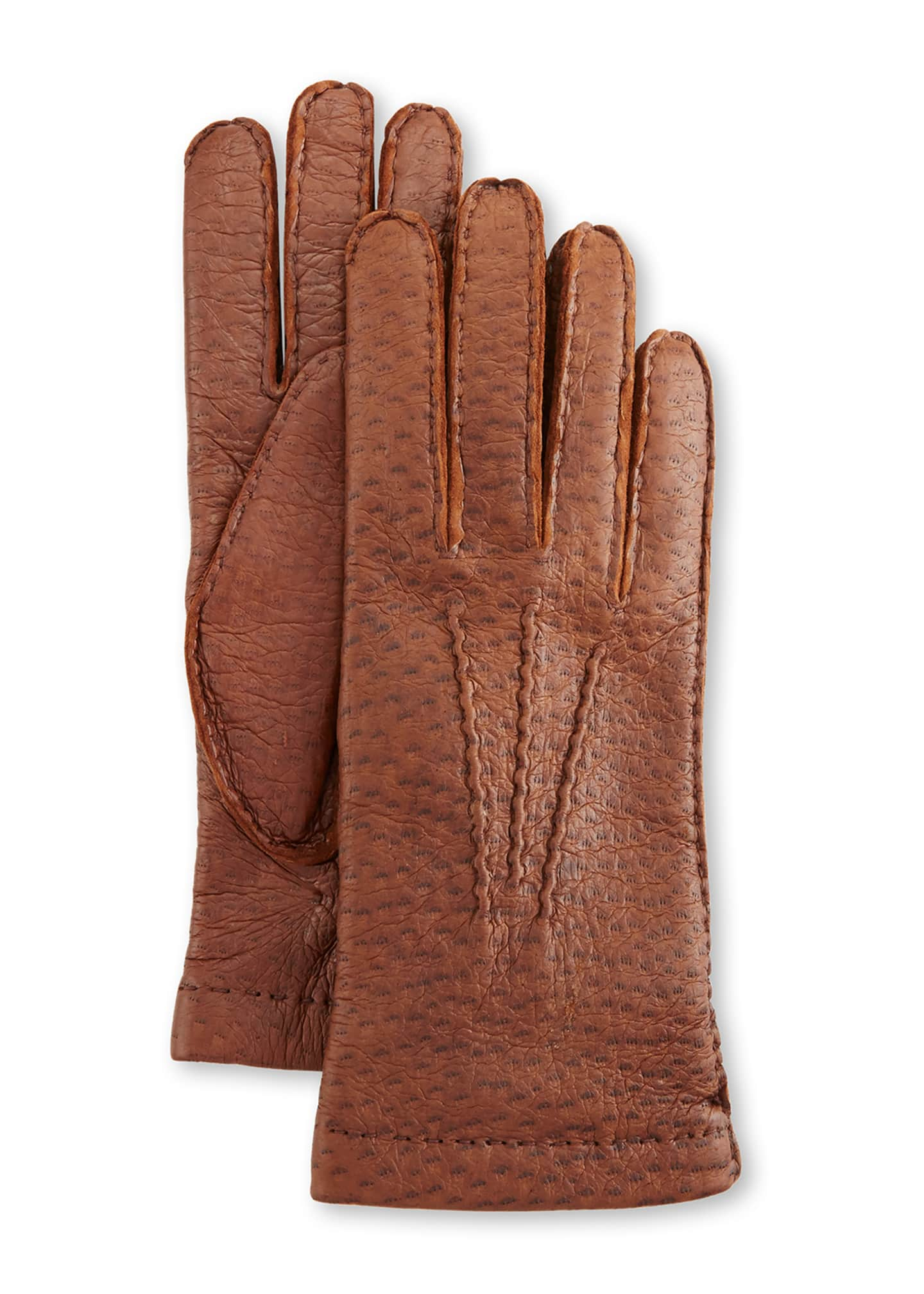 Hestra Gloves Peccary Hand-Sewn Leather Cashmere-Lined Gloves