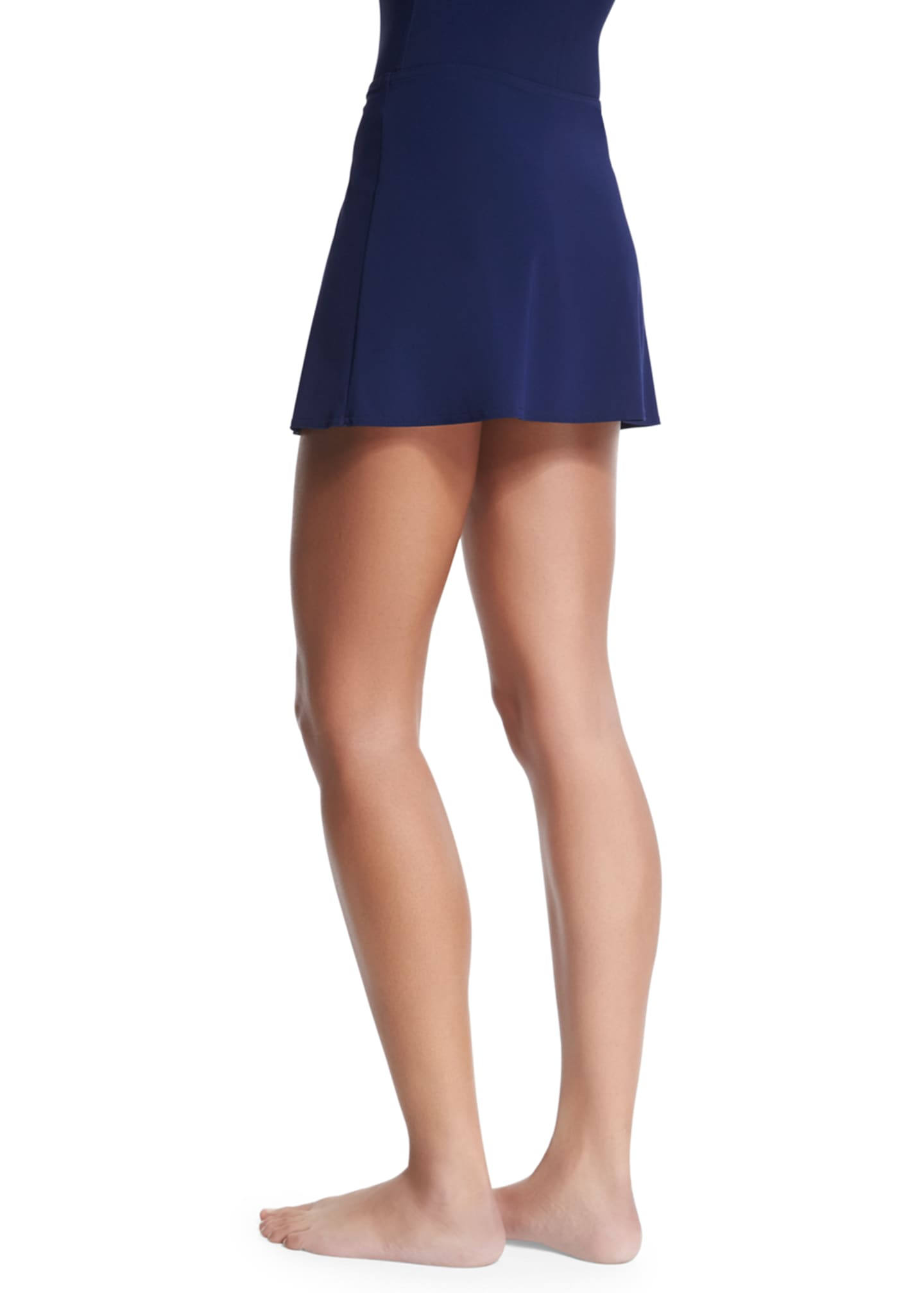 Image 2 of 2: Flared Swim Skirt, Navy