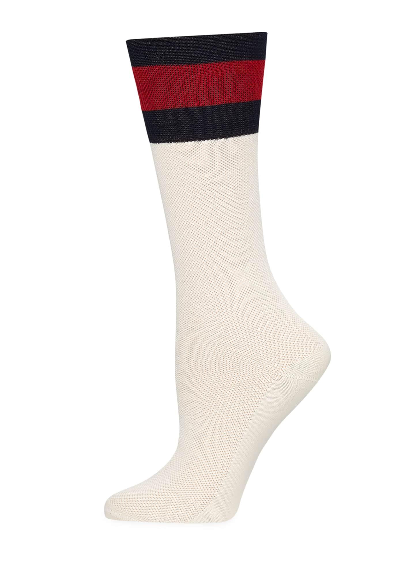 Gucci Suzanne Web-Cuff Tube Socks