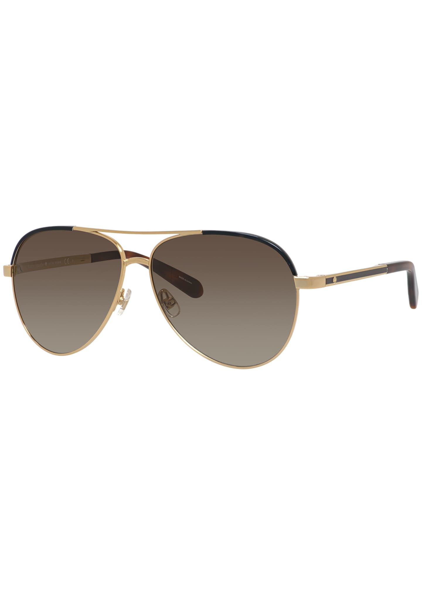 kate spade new york amaris two-tone aviator sunglasses