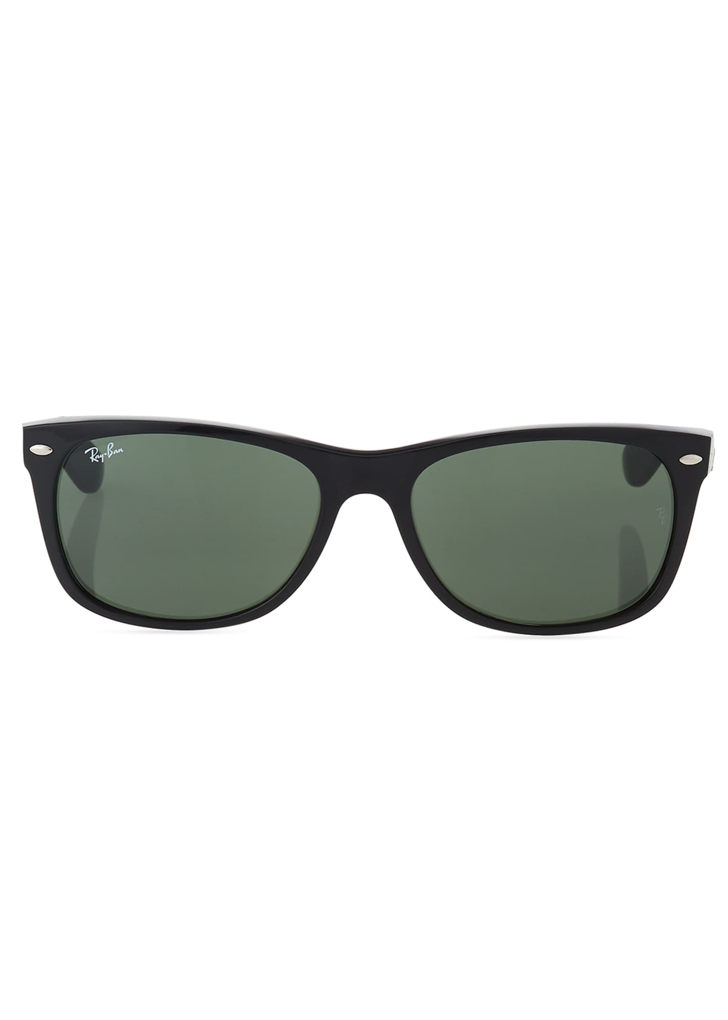 Image 2 of 3: Men's New Wayfarer 58mm Flat-Top Plastic Sunglasses