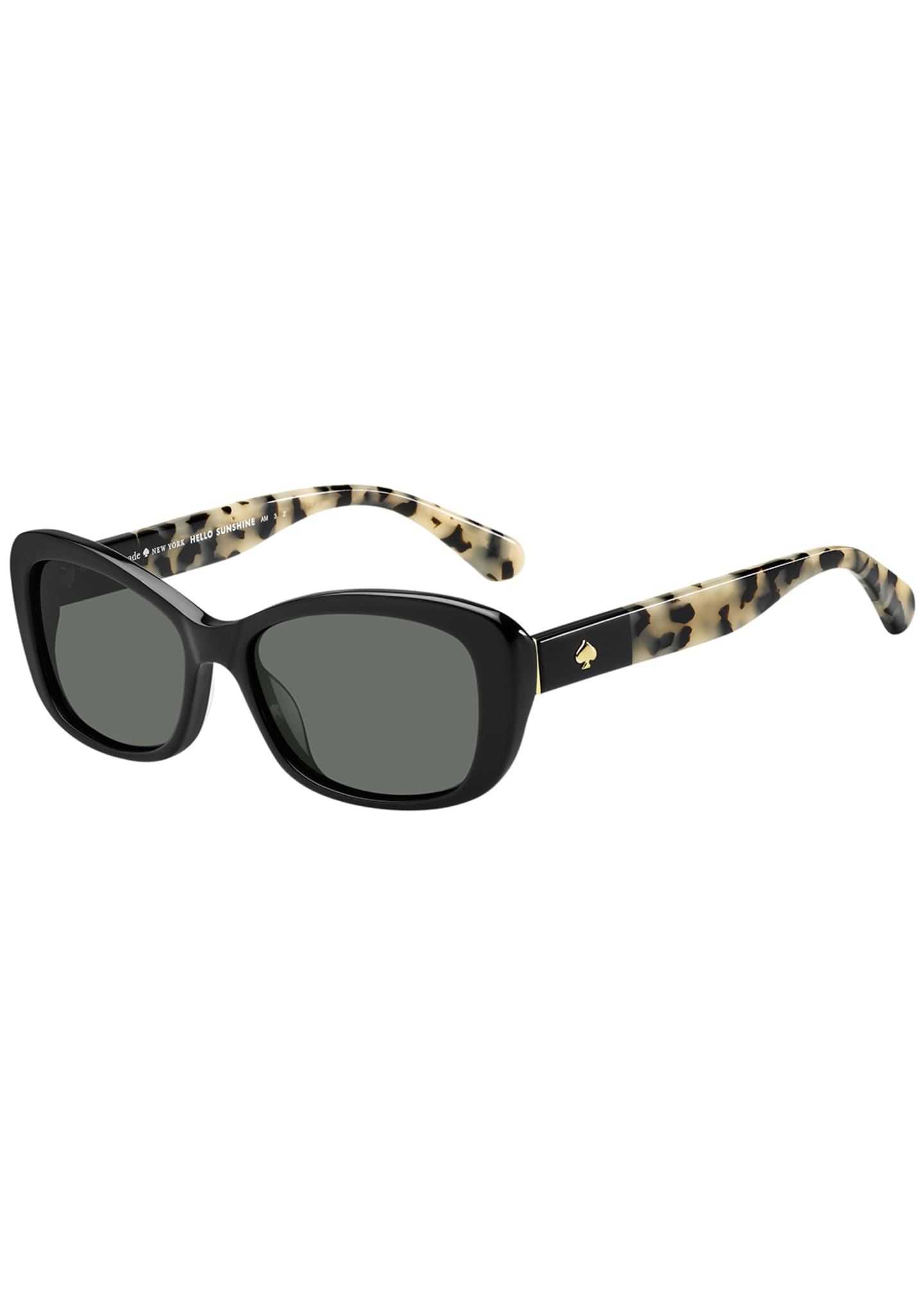 kate spade new york claretta two-tone oval sunglasses